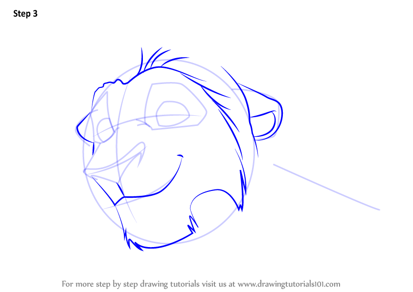 how to draw timon step by step