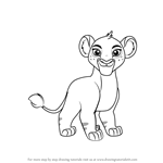 How to Draw Tiifu from The Lion Guard