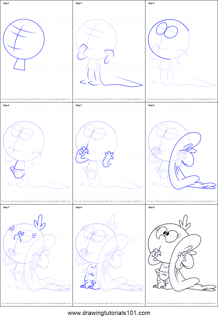 How to Draw Lily Loud from The Loud House printable step by step ...