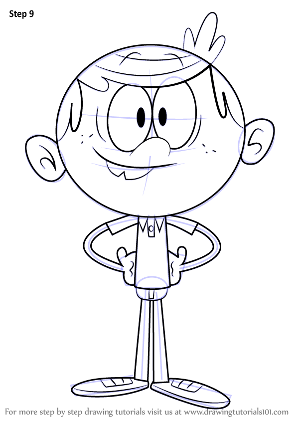 learn how to draw lincoln loud from the loud house  the