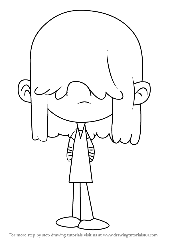 loud house coloring pages - learn how to draw lucy loud from the loud house the loud