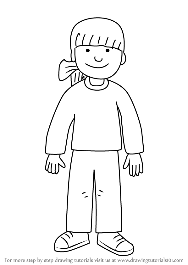 Learn How To Draw Biff Robinson From The Magic Key The Kipper The Coloring Pages
