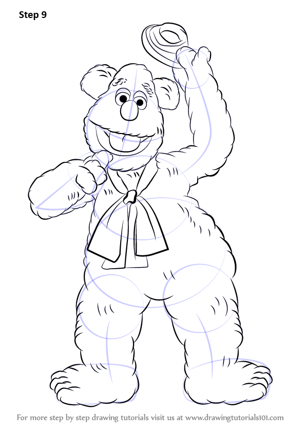 Step By Step How To Draw Fozzie Bear From The Muppet Show