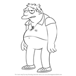 How to Draw Barney Gumble from The Simpsons