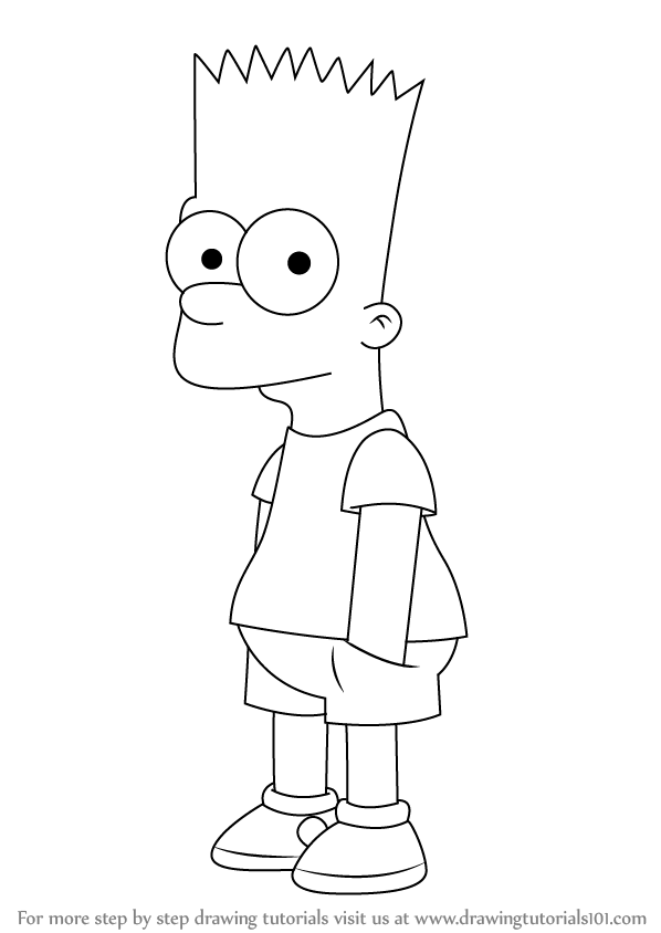 Step By Step How To Draw Bart Simpson From The Simpsons