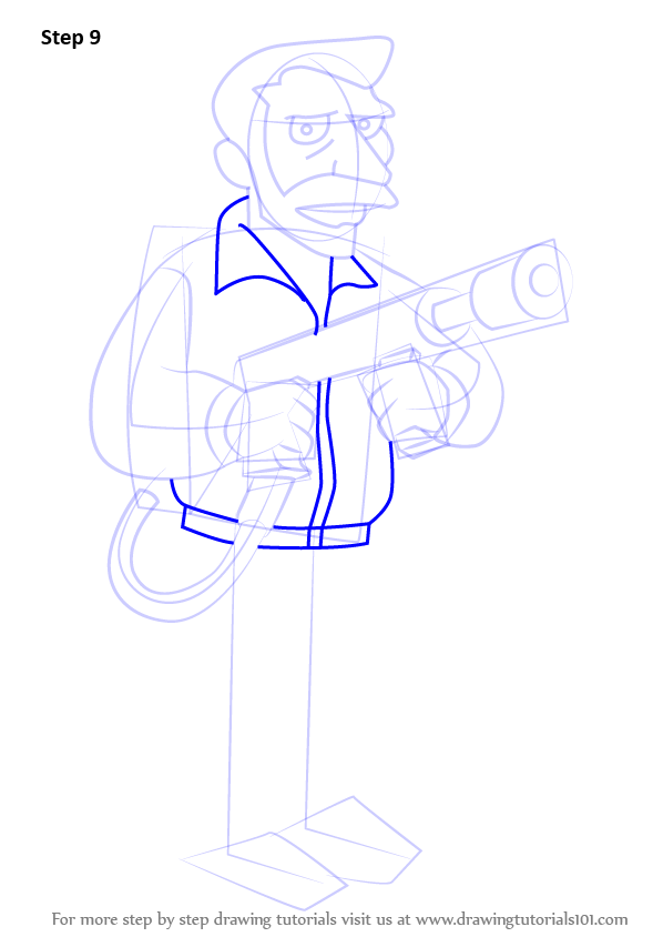 Step By Step How To Draw Hank Scorpio From The Simpsons