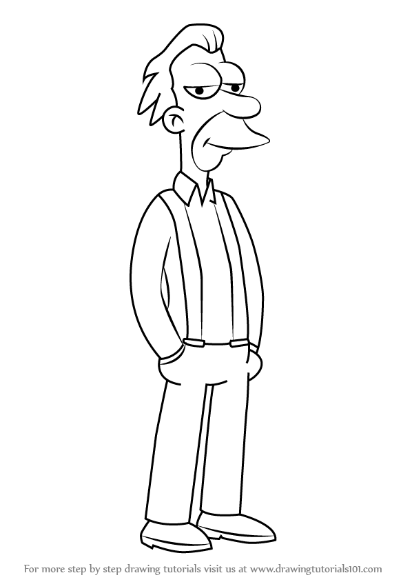 Learn How to Draw Lenny Leonard from The Simpsons The