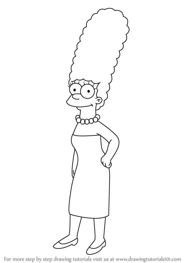 Learn How to Draw Marge Simpson from The Simpsons The