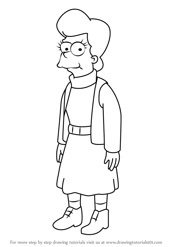 learn how to draw mona simpson from the simpsons  the