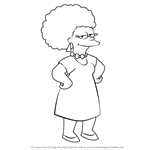 How to Draw Patty Bouvier from The Simpsons