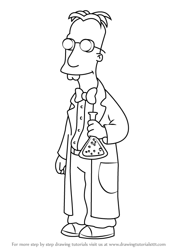 Learn How To Draw Professor Frink From The Simpsons The