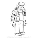 How to Draw Snake Jailbird from The Simpsons