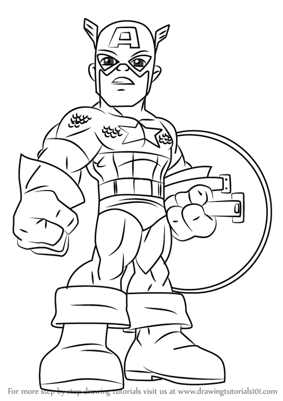 superhero coloring pages captain america - photo#27