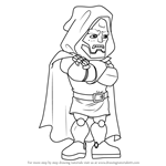 How to Draw Dr. Doom from The Super Hero Squad Show