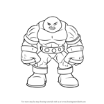 How to Draw Juggernaut from The Super Hero Squad Show
