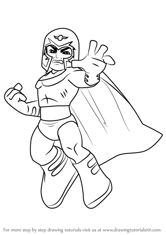 Learn how to draw magneto from the super hero squad show for Magneto coloring pages