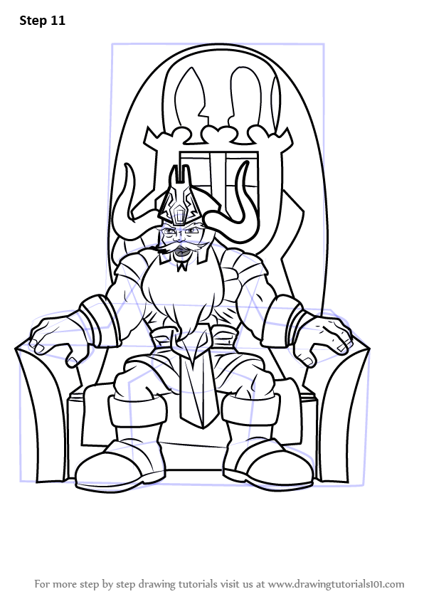 Learn How To Draw Odin From The Super Hero Squad Show The