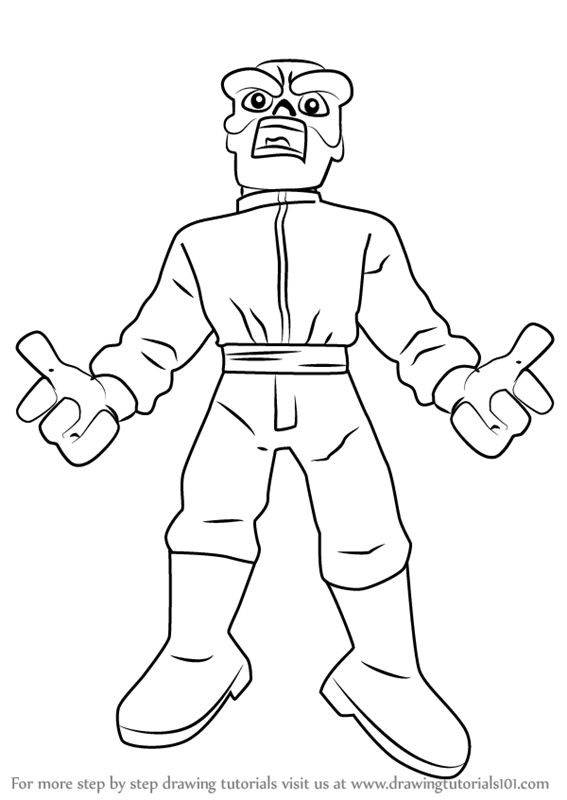 Learn How To Draw Red Skull From The Super Hero Squad Show
