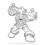 How to Draw Sabretooth from The Super Hero Squad Show