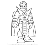 How to Draw Stranger from The Super Hero Squad Show