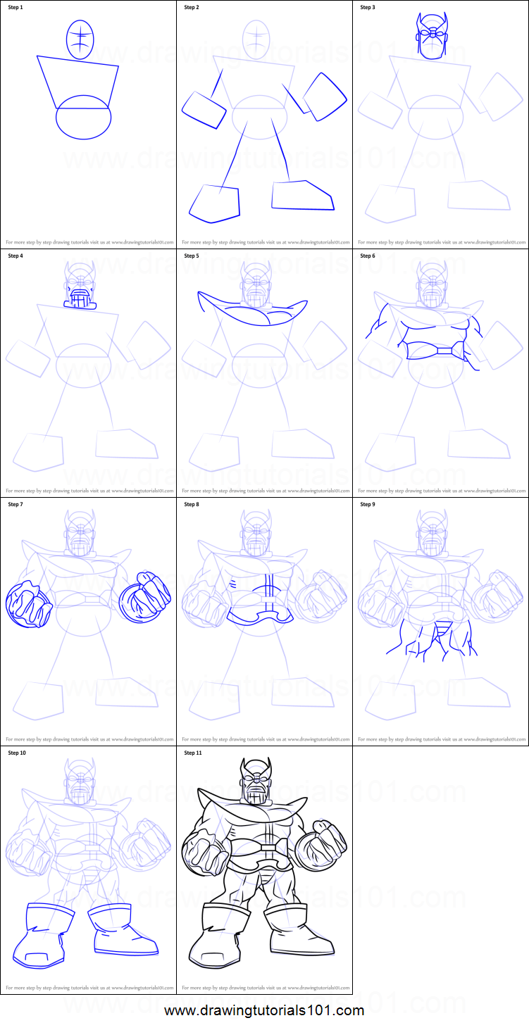 How to Draw Thanos from The Super Hero Squad Show