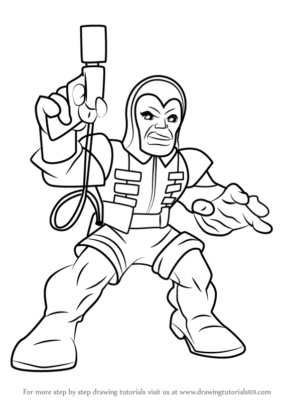 Learn How To Draw Trapster From The Super Hero Squad Show