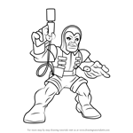 How to Draw Trapster from The Super Hero Squad Show