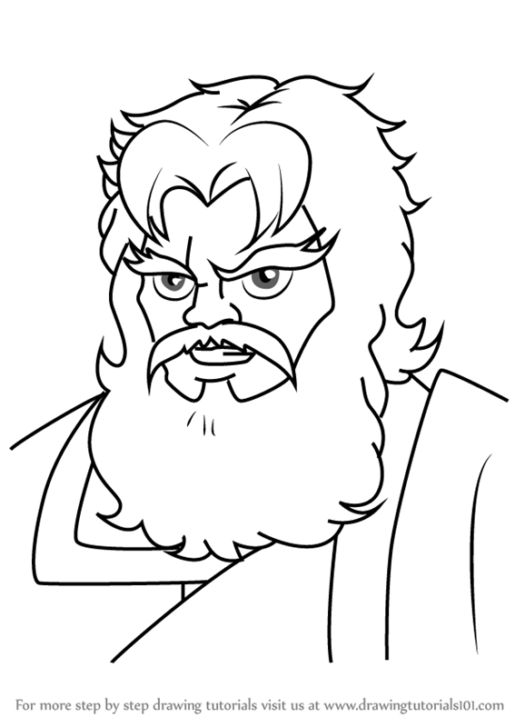 Line Drawing Of Zeus : Zeus drawing pixshark images galleries with a