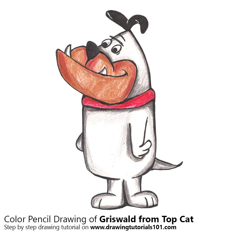 Griswald from Top Cat Color Pencil Drawing