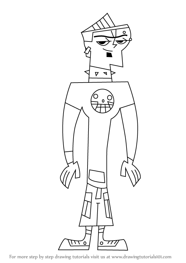 duncun coloring pages | Learn How to Draw Duncan from Total Drama Island (Total ...