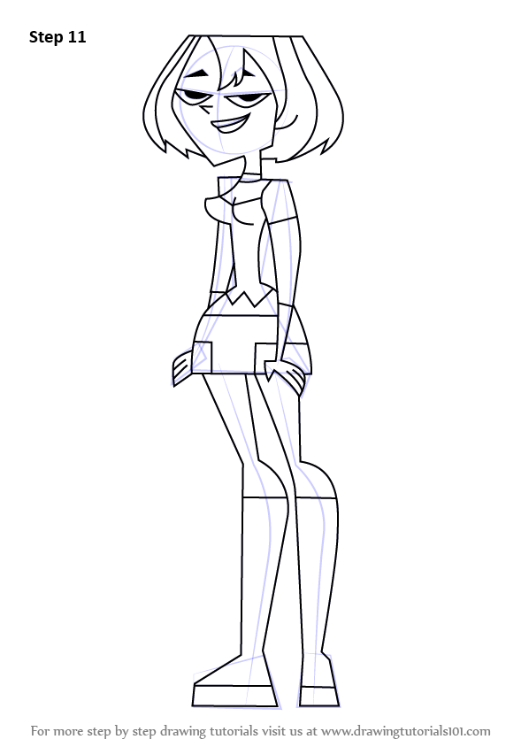 Learn How To Draw Gwen From Total Drama Island Total