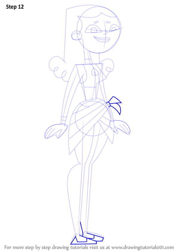 Step By Step How To Draw Izzy From Total Drama Island