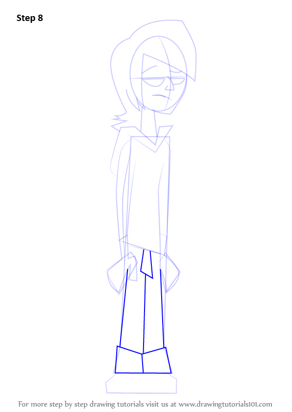 Step By Step How To Draw Lance From Total Drama Island