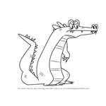 How to Draw Alligator from Total Drama