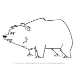 How to Draw Bear from Total Drama
