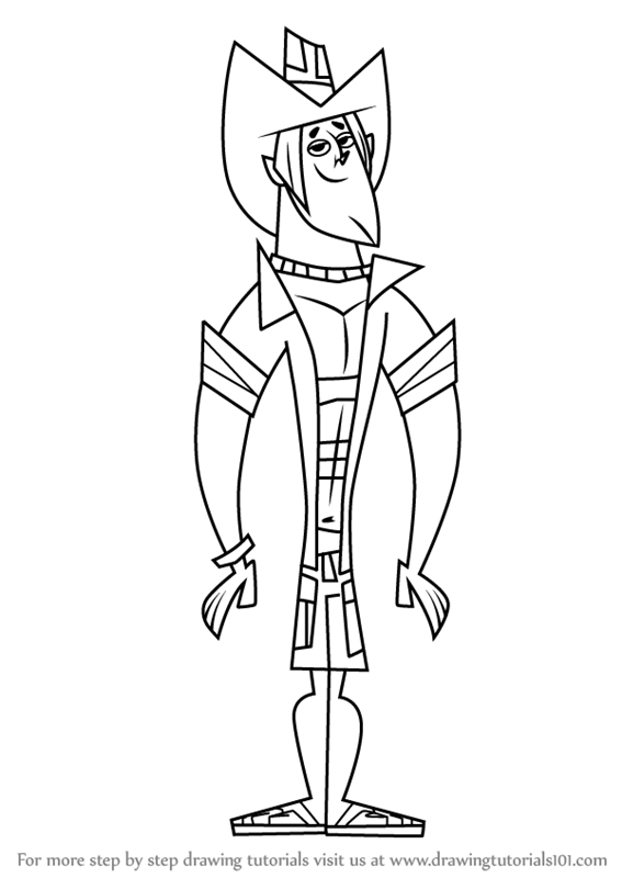 Learn How To Draw Geoff From Total Drama Total Drama