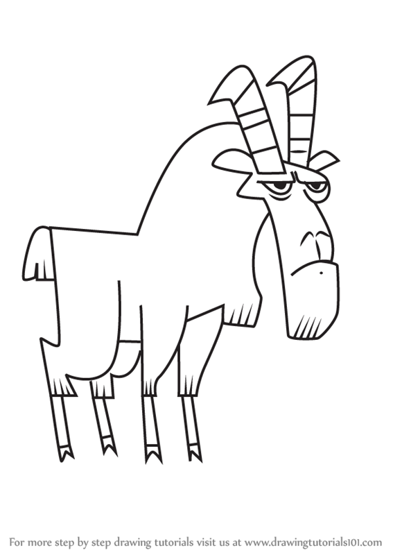 Learn How to Draw Goat from Total Drama (Total Drama) Step