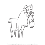 How to Draw Goat from Total Drama