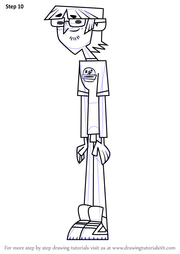 Learn How To Draw Harold From Total Drama Total Drama