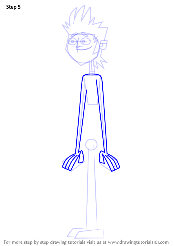 Learn How To Draw Mike From Total Drama Total Drama Step
