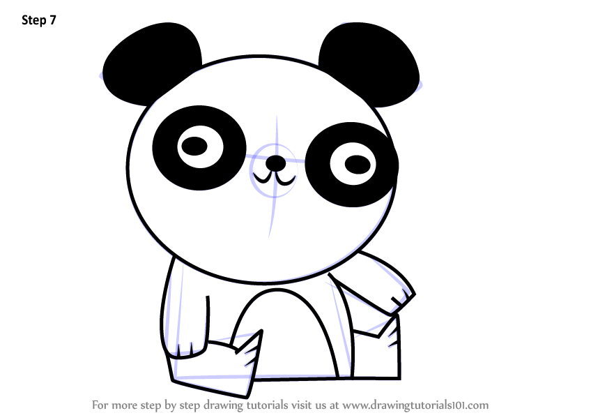 Learn How To Draw Panda Bear From Total Drama Total Drama Step By
