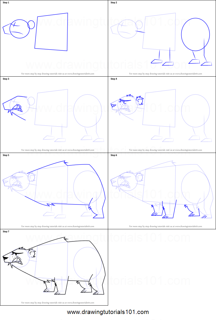 Drawing Lines With Polar Tracking : Pin drawn polar bear line drawing how to draw a