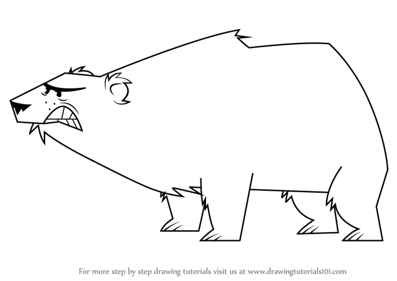 Drawing Lines With Polar Tracking : Learn how to draw polar bear from total drama