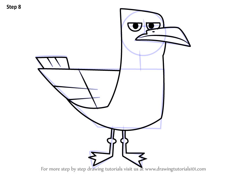Learn How To Draw Seagull From Total Drama Total Drama