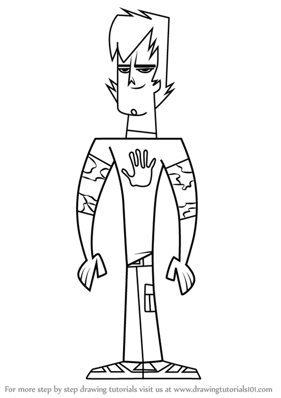 Learn How To Draw Trent From Total Drama Total Drama