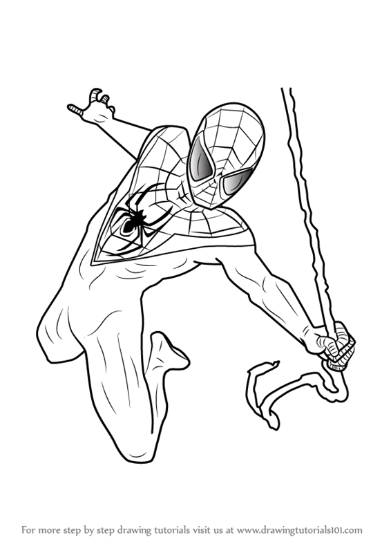 coloring pages spiderman easy drawings - photo#29