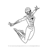 How to Draw Spider Girl from Ultimate Spider-Man