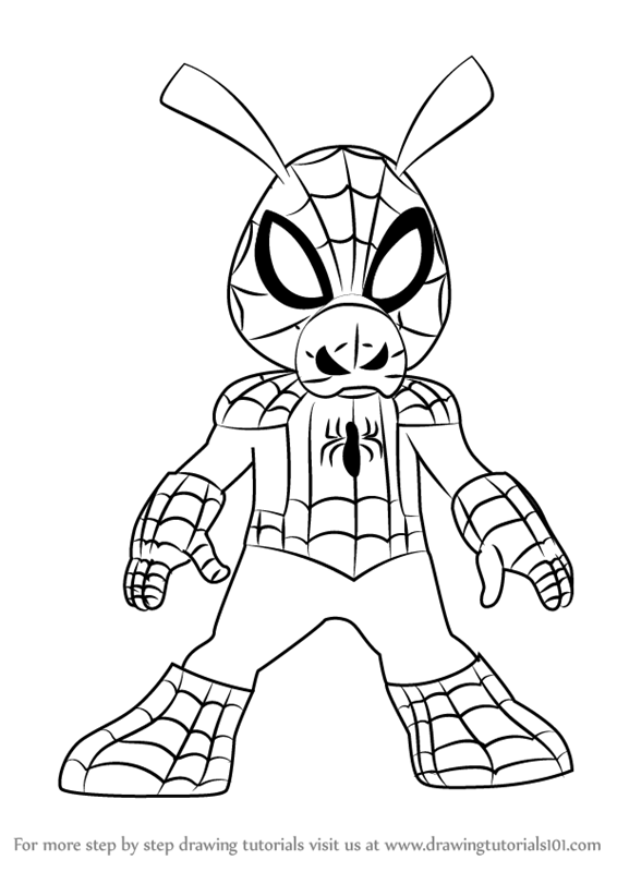 Learn How To Draw Spider Ham From Ultimate Spider Man Ultimate