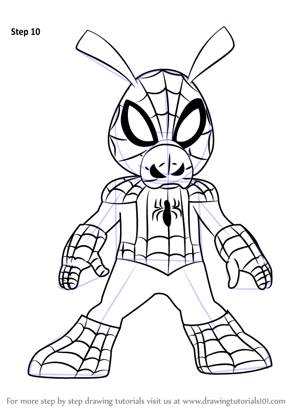 learn how to draw spider