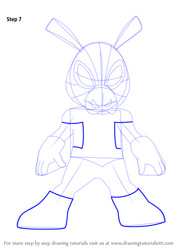 step by step how to draw spiderham from ultimate spider